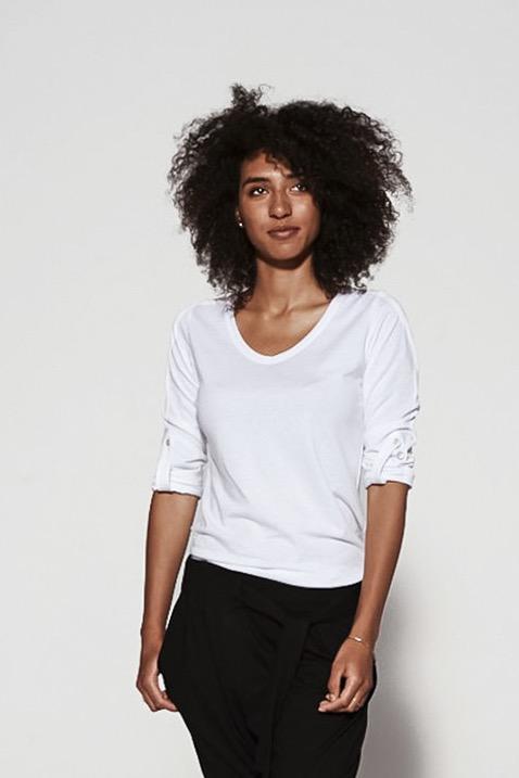 {b}ALMA 181 cm mediatorka, kolorystka bluzka XS spodnie XS