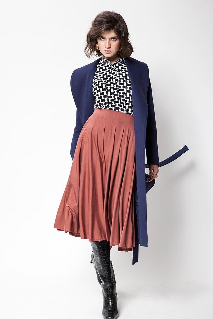 {b}ZUZIA 178 cm modelka koszula XS płaszcz XS spódnica XS buty Loft 37