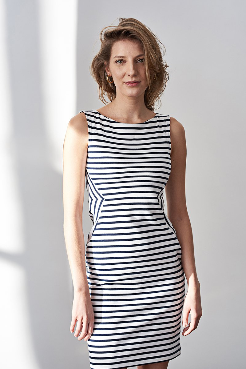 SLIM FAST LIGHT navy stripes