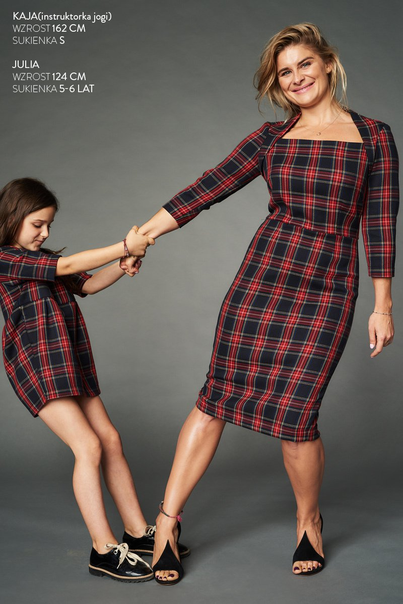 LITTLE CHEQUERED DRESS FOR KIDS red