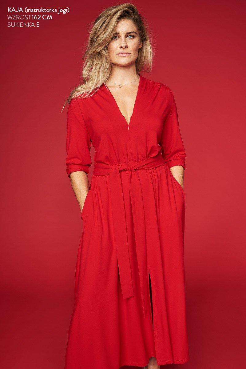 LIBERTY DRESS czerwona