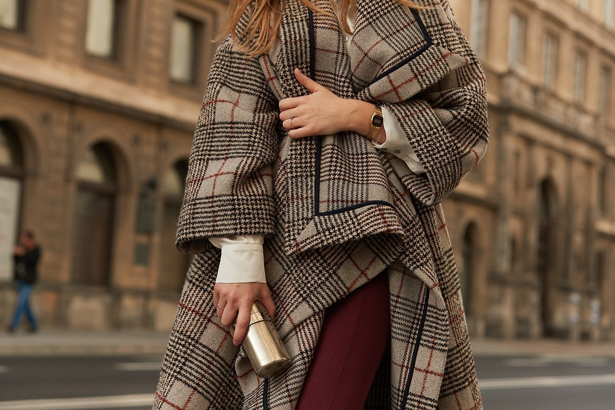 LONDON CALLING chequered beige