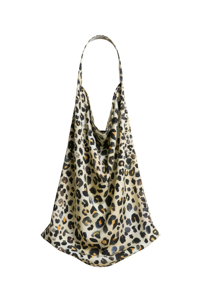 SHOPPER BAG MIDI leo print