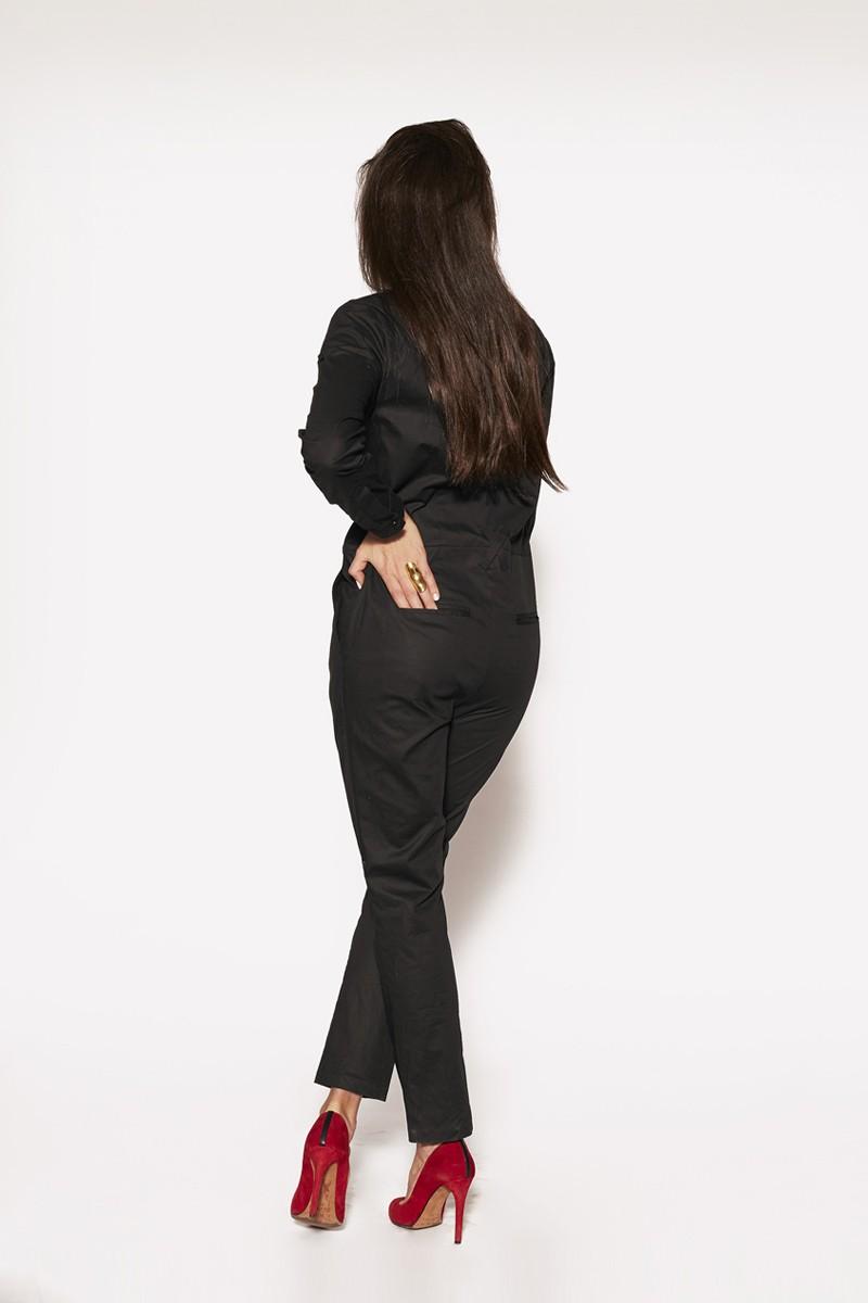 fabric jumpsuit UPTOWN GIRL black