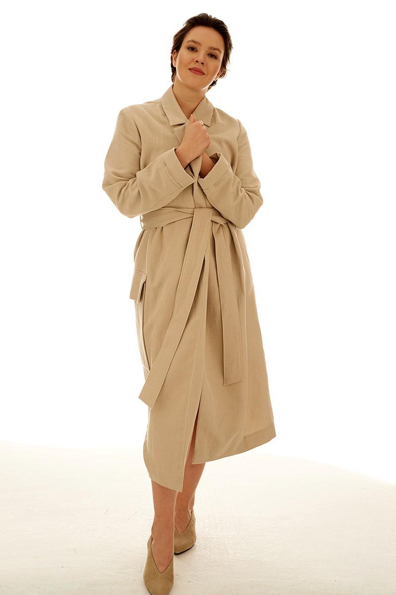 SAHARA COAT linen beige