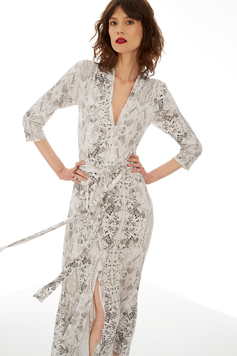LIBERTY DRESS snake print