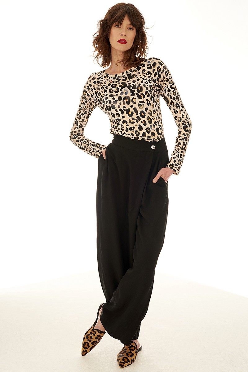 SAWA WITH SLEEVES leo print