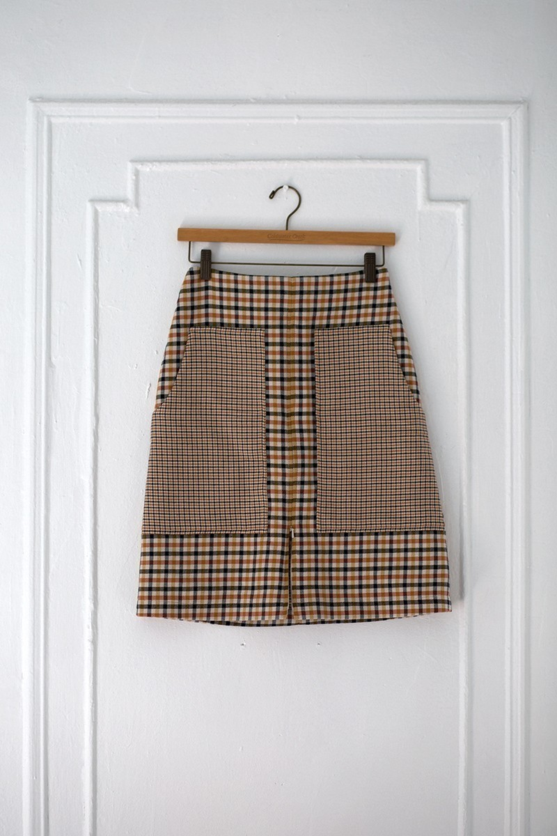 POCKET FACE chequered beige