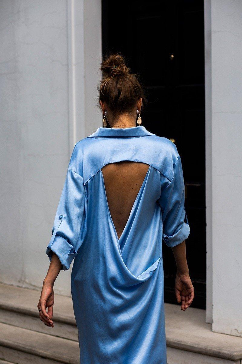 I'LL BE BACK MAXI celeste blue