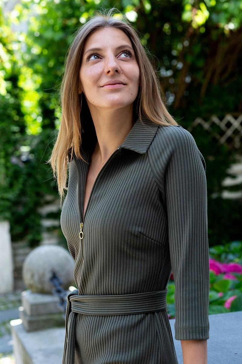 POLO DRESS khaki