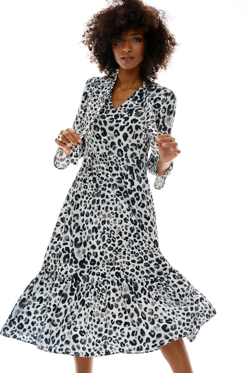 WONDERS DRESS black panther print