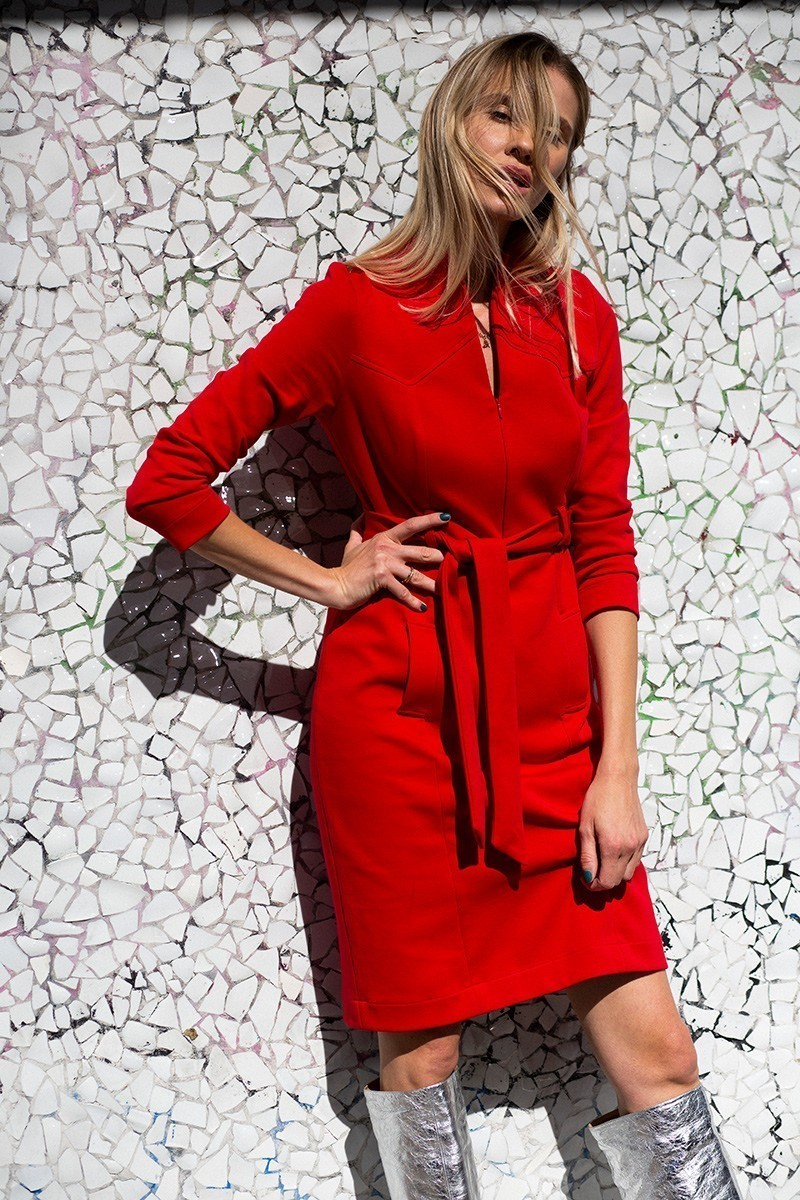 DRESS & THE CITY red