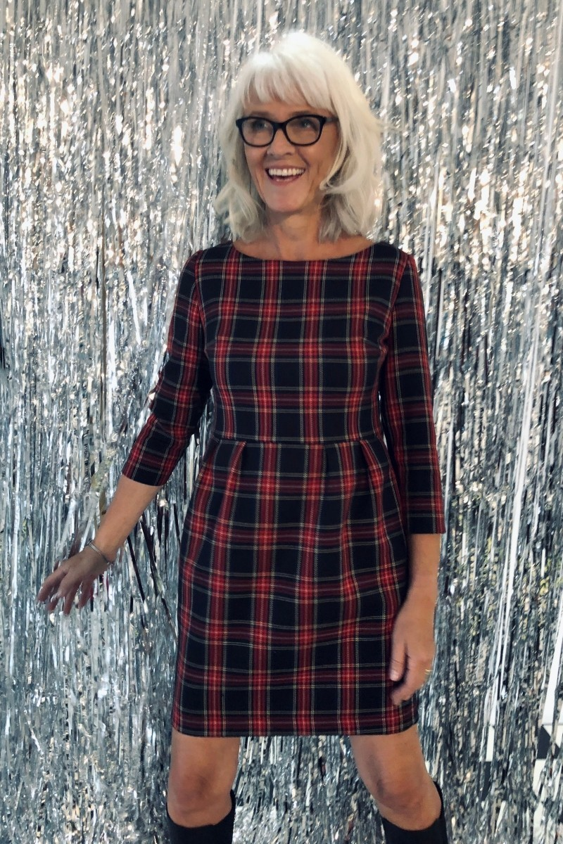 LITTLE CHEQUERED DRESS red