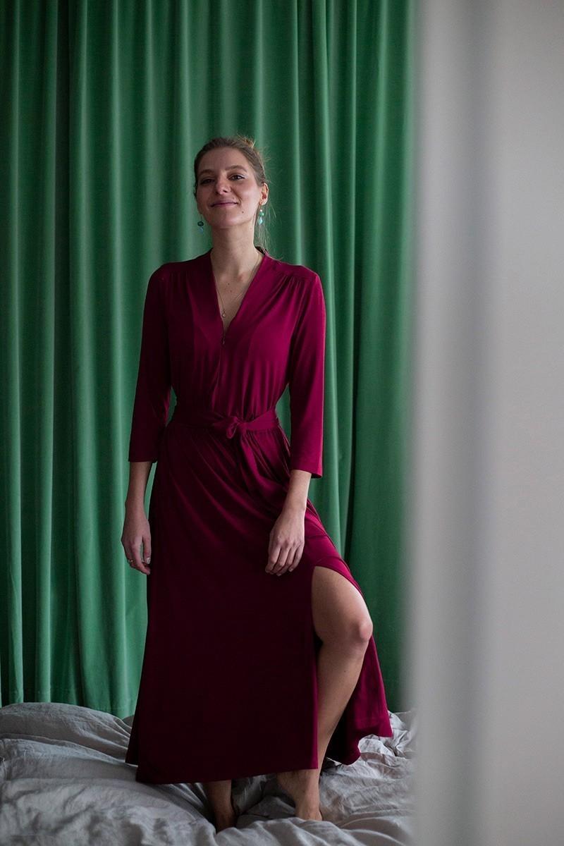 LIBERTY DRESS vintage bordeaux