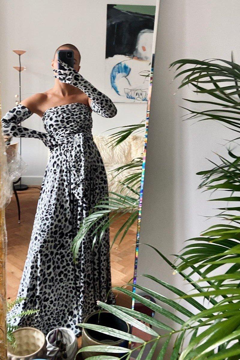 INFINITY MAXI black panther print