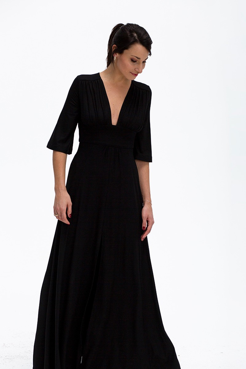 VESPER WITH A SLIT black