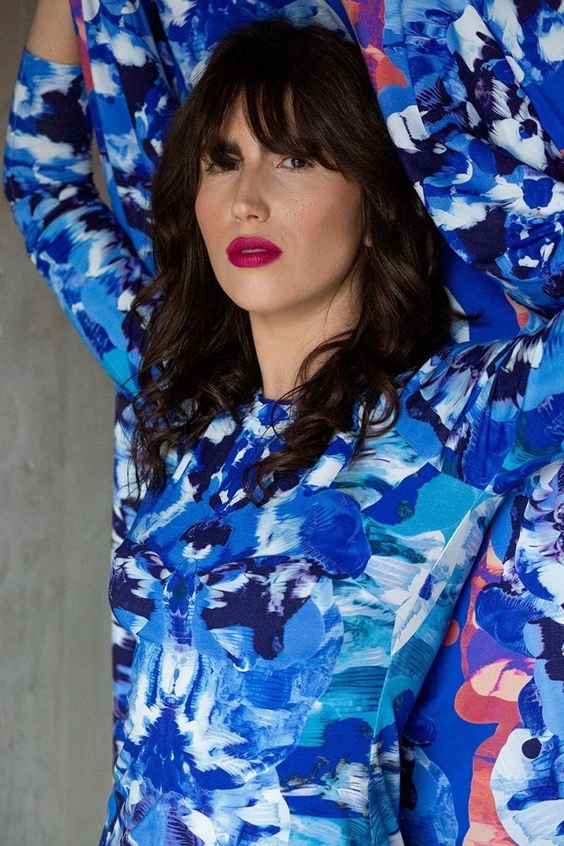 SAWA LONGSLEEVE blue print Rorschach