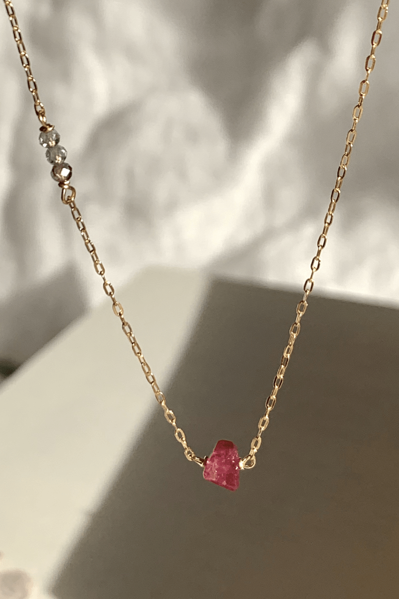 PINK TOURMALINE & PINK SAPPHIRES NECKLACE