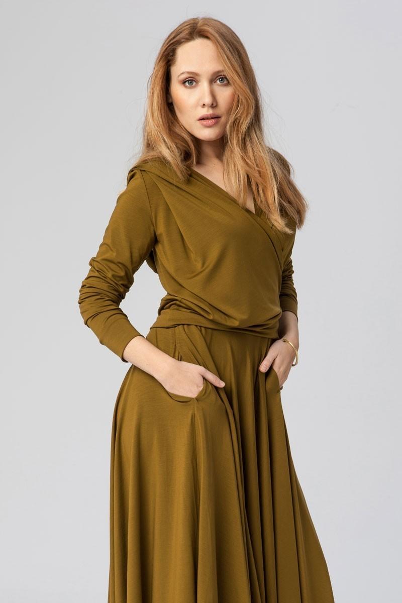 PRIMA BALLERINA złote khaki