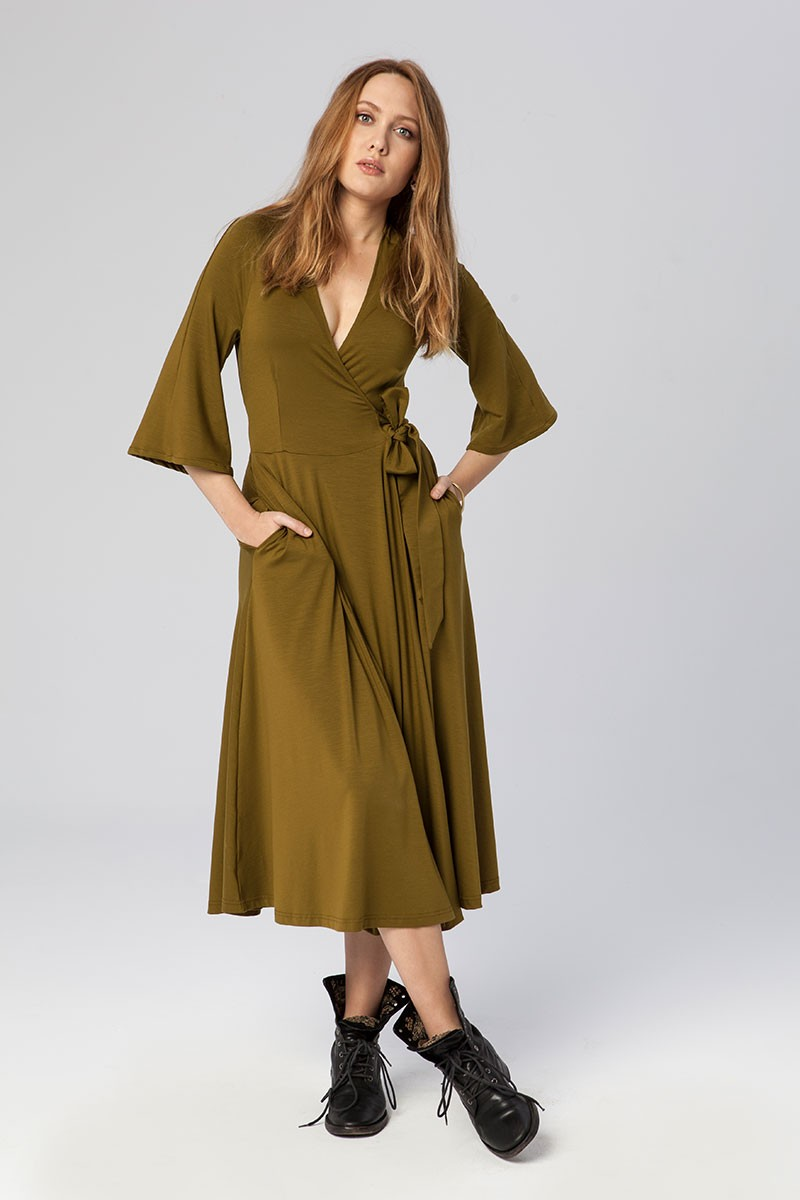 SUPER DRESS golden khaki
