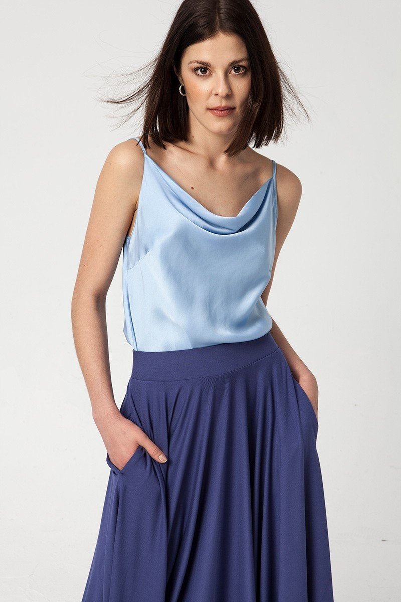 PRIMA BALLERINA cerulean blue