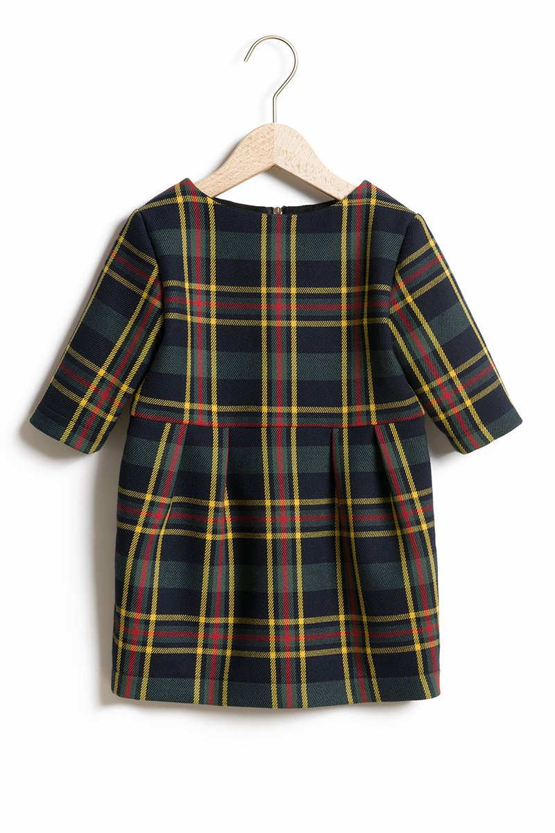 LITTLE CHEQUERED DRESS FOR KIDS green