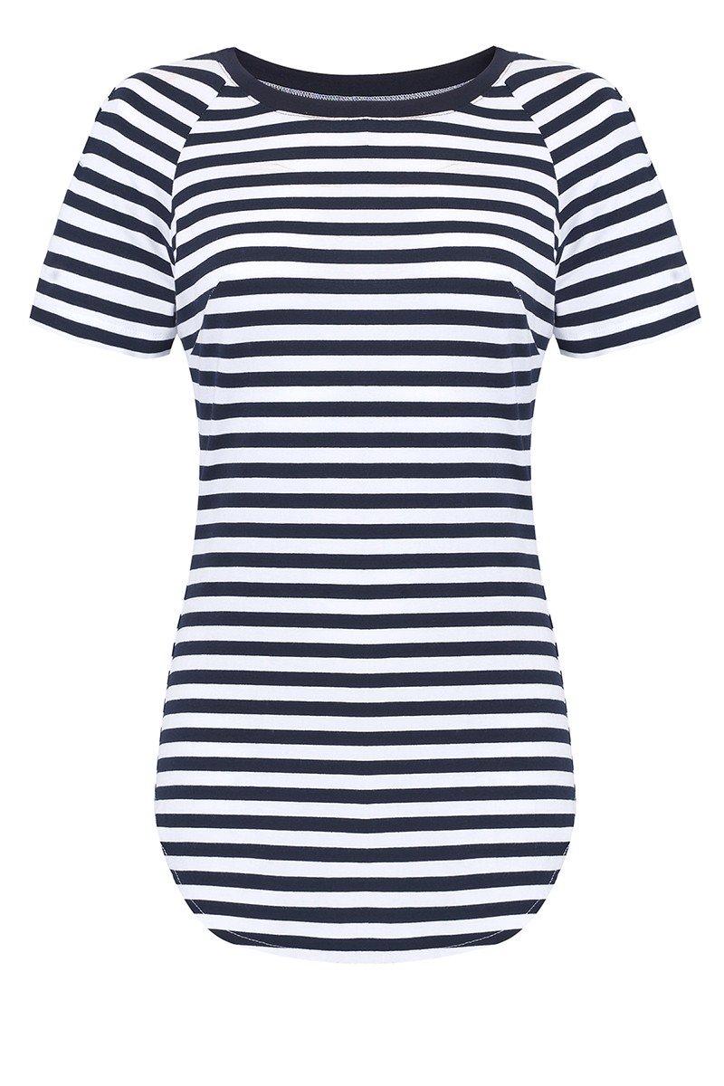 SAWA navy stripes