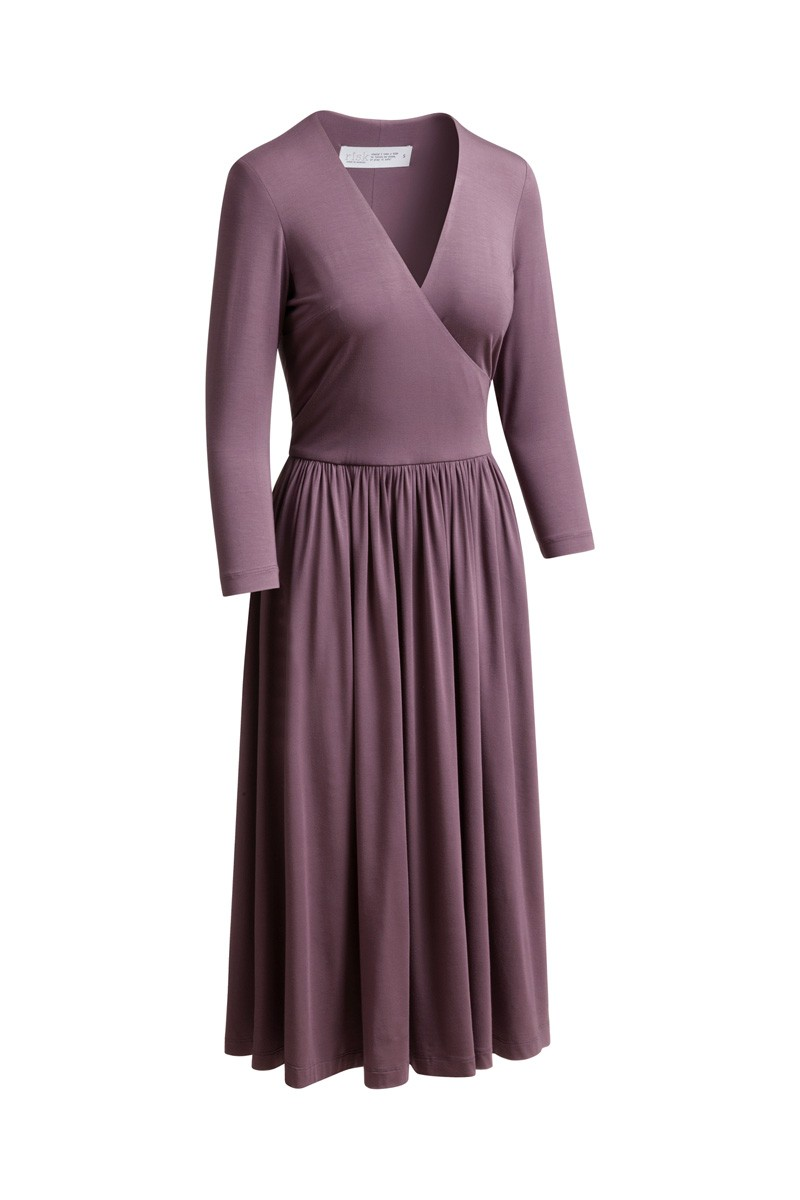 WRAP DRESS amethystine