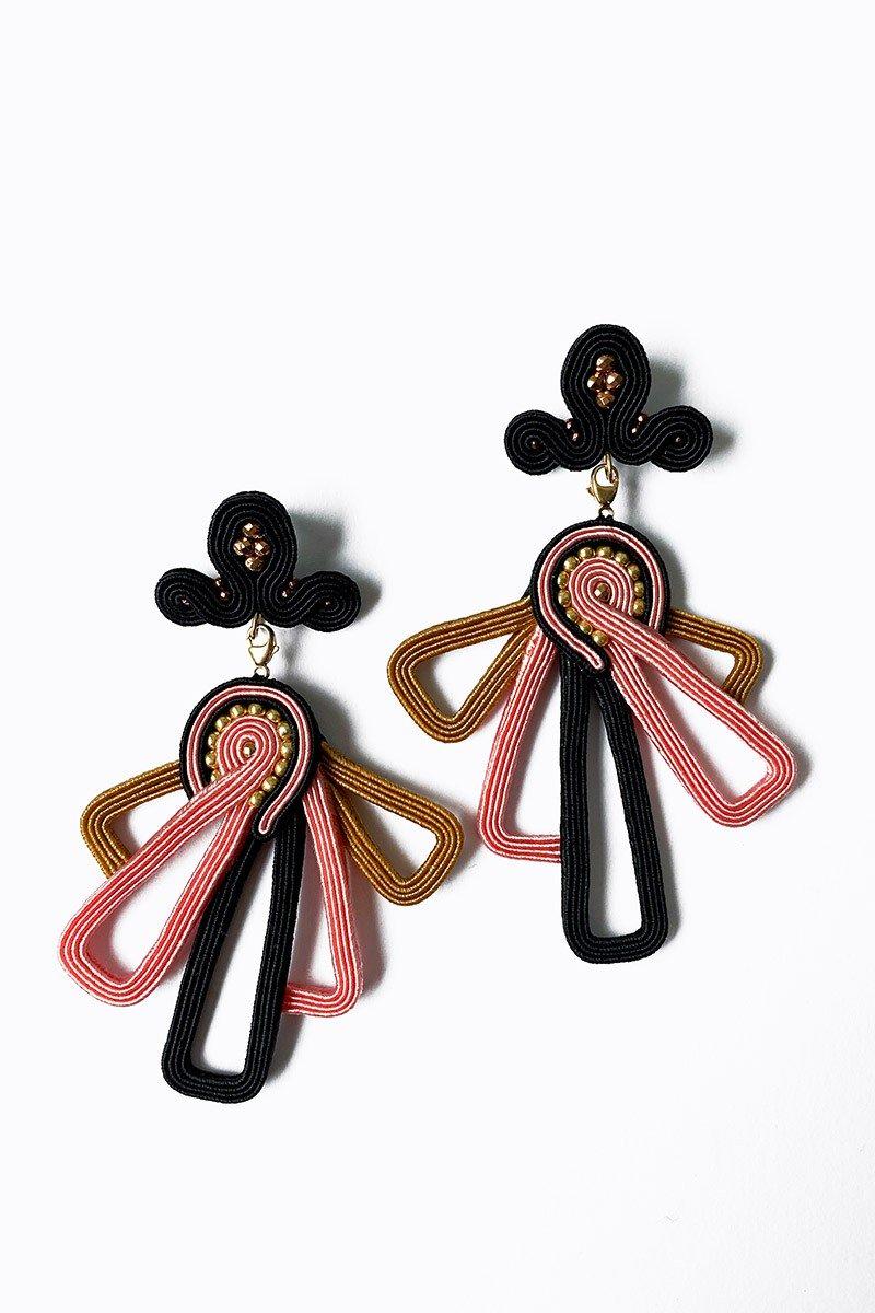 Earrings LA SCALA pink