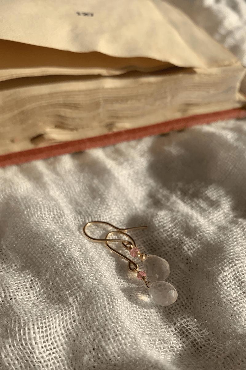 ROSE QUARTZ & TOPAZ EARRINGS