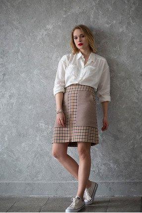 {w}ANIELA 174 cm freelancerka koszula S spódnica S