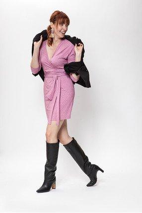{b}KARO 180 cm model suit jacket M dress M boots Loft 37