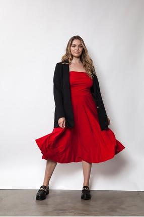 {b}PATRYCJA 178 cm model dress L jacket L shoes Loft 37