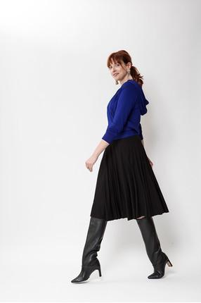 {b}KARO 180 cm model hoodie M skirt M boots Loft 37