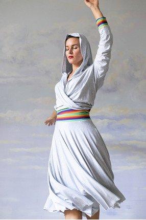{b}KLARA 162 cm projektantka, współzałożycielka Riska spódnica XS bluza XS